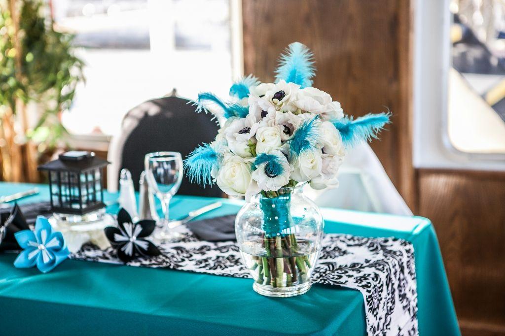 Turquoise And Black Wedding Theme