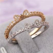 Fashion 3 Fine Jewelry Accessories Rhinestone Rings Delicate