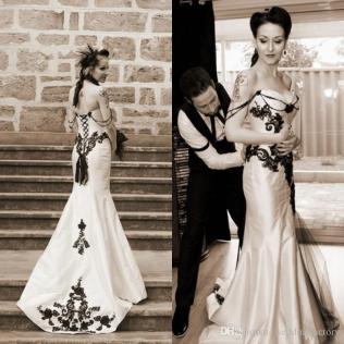Gothic Victorian Style Wedding Dresses