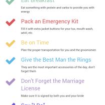 Groom Wedding Day Checklist Png