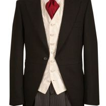 Mens Wedding Suit Hire £50 Complete Package Black Tails Ivory