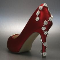 ♡ Red Winter Wedding Shoes With Bling For Wedding Ideas