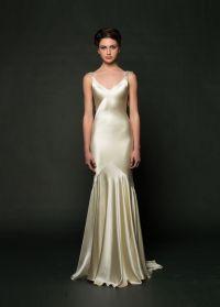 Silk Charmeuse Wedding Dress