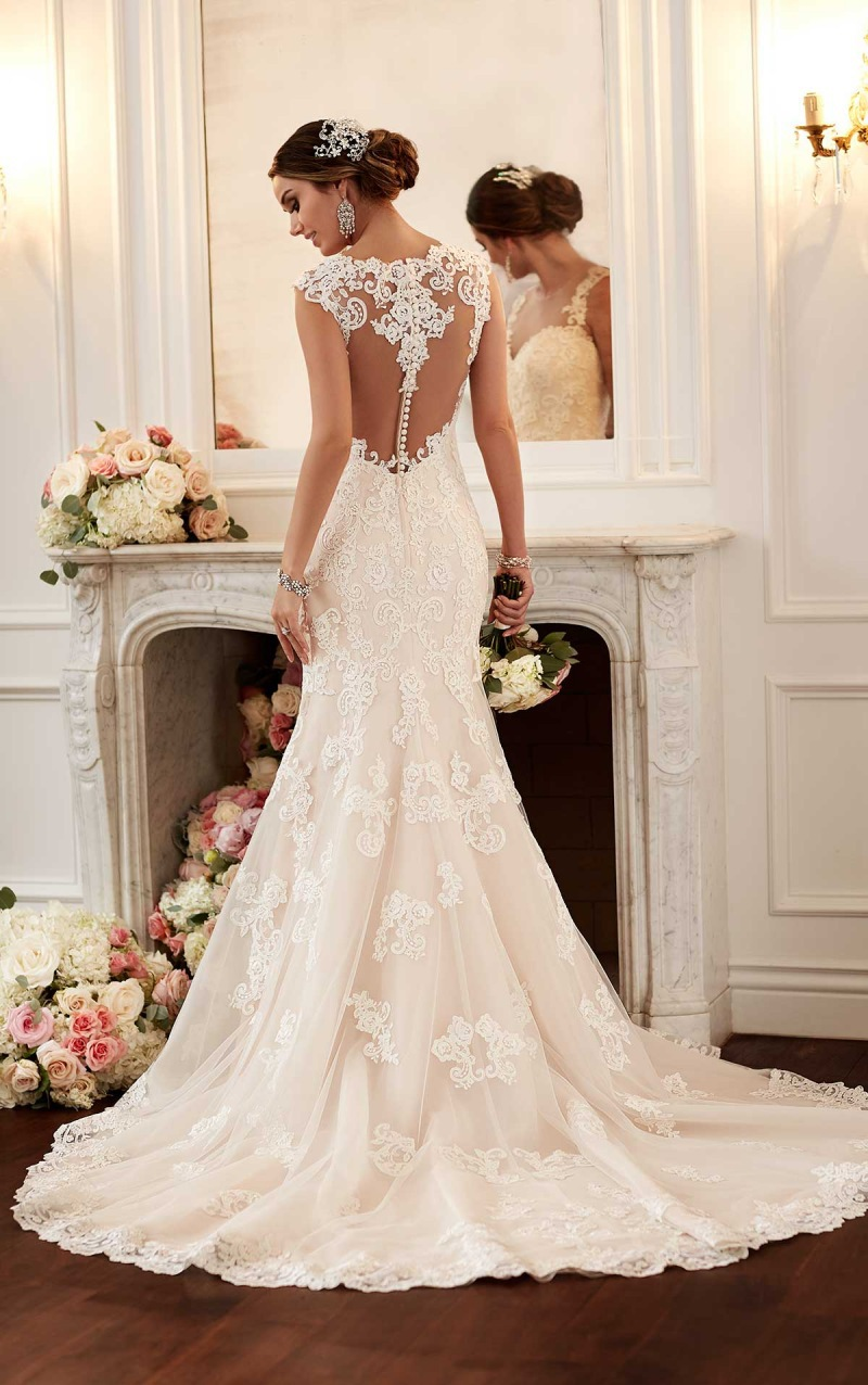 Lace backless wedding dress wd lace backless wedding dresseswedding dresscustom made junglespirit Choice Image