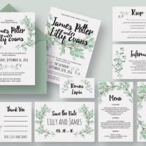 Whole Wedding Invitation Package Designed Wedding Invitations
