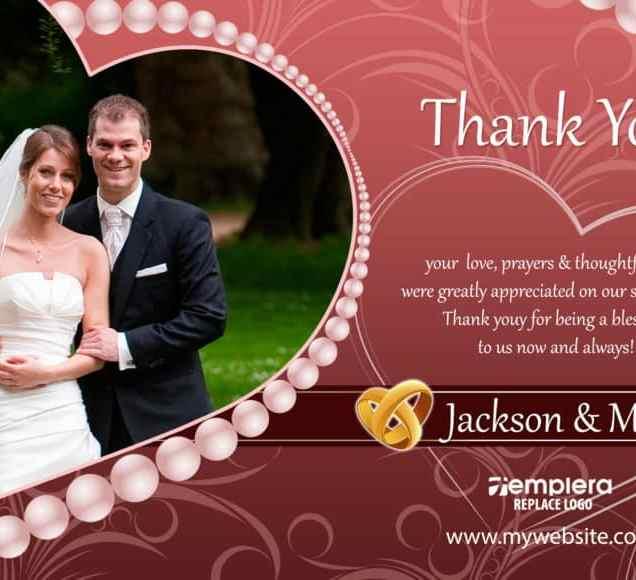 Wedding Thankyou Card 004