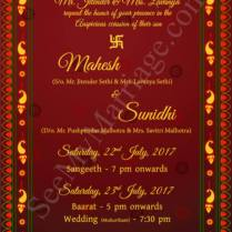 Red Carpet – Traditional Indian Style Red Theme Wedding Whatsapp