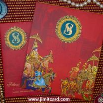 An Attractive Antique King Style Indian Traditional Wedding Card