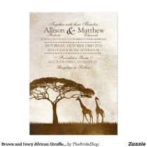 Brown And Ivory African Giraffe Wedding Invitation This Just