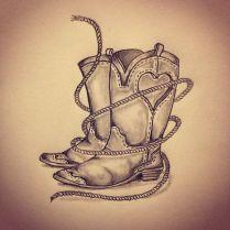 41 Best Cowboy Boot Tattoos