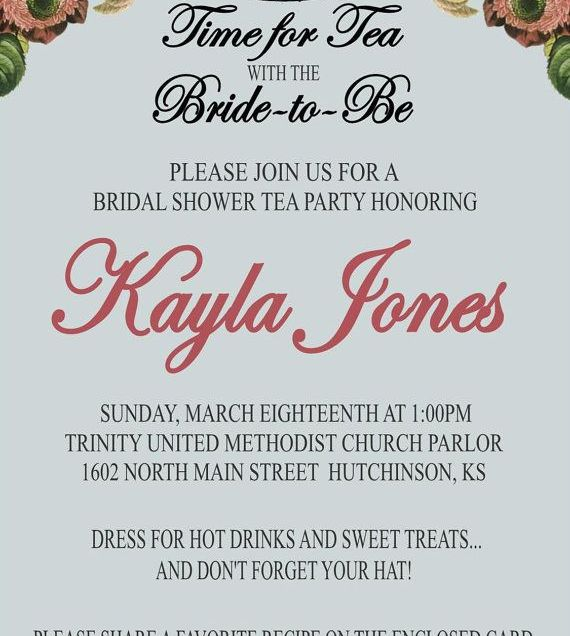 Recipe Bridal Shower Invitations Wording