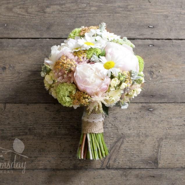 Vintage Peony Mix Bridal Bouquet