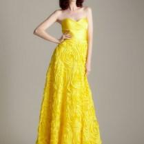Long Yellow Bridesmaid Dresses