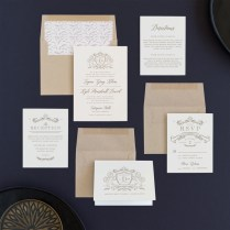 Classic Crest Wedding Invitations By Kristen Smith