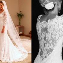 Plus Size Vintage Lace Wedding Dress