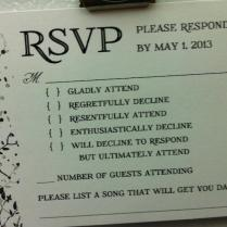 Photo This Is The Best Wedding Rsvp Card We've Ever Seen (plus 31