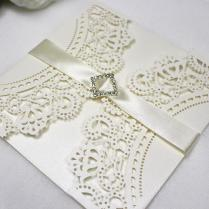 Lace Wedding Invitations Artificial Diamond Decorating Spring Fall