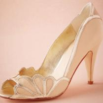 Blush Women Wedding Shoes 2016 Vintage Bridal Isabella Scalloped
