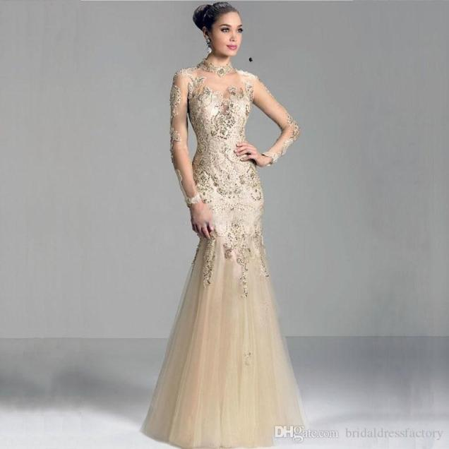 Mansa 2018 Modest Mermaid Mother Of The Bride Dresses With Sleeves
