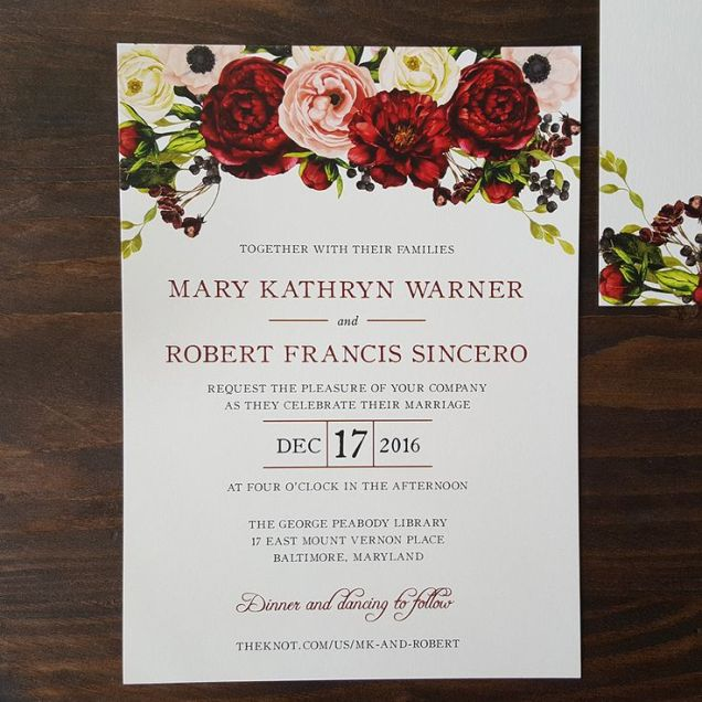 Red Rose Wedding Invitations Red Rose Wedding Invitations For Your