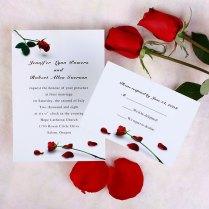 Red Rose Wedding Invitations Red Rose Wedding Invitations Red Rose