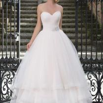 Ruched Tulle Sweetheart Neckline Pastel Ball Gown Wedding Dresses