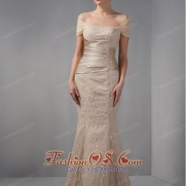 Unique Champagne Mermaid Mother Of The Brides Dress Off The