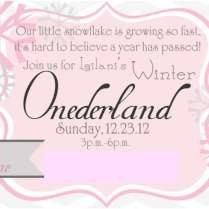 Winter Onederland Party Invitations Winter Onederland Party