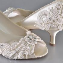 Woman's Low Heel Wedding Shoes