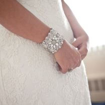 Bridal Cuff Bracelet, Wedding Bracelet, Wedding Jewelry, Antique