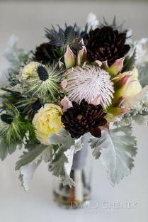Cindy Davis Design Groupbridal Bouquetking Protea, Dahlias