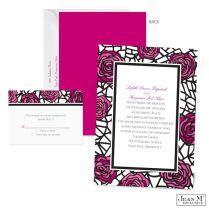 Vintage Black Purple White Garden Invitations Jean M Spring Summer