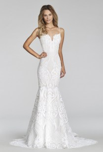 Hayley Paige West Gown Blush Style 1710 Used Wedding Dress On Sale