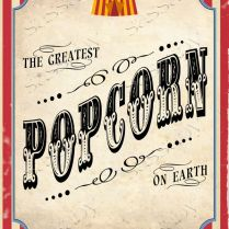 Vintage Circus Party Posters Game Signs