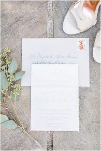 Gray Letterpresses Wedding Invitation