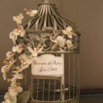 Gold Bird Cage Wedding Card Holder Vintage Style Wedding Card