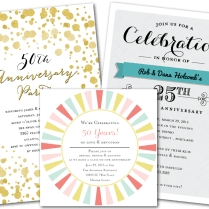 Email Online Anniversary Invitations That Wow!