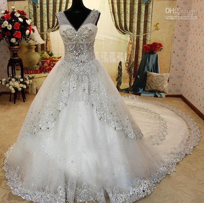 Blinged Out Ball Gown Wedding Dresses