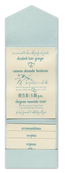 Effervescent Love Pocket Wedding Invitation