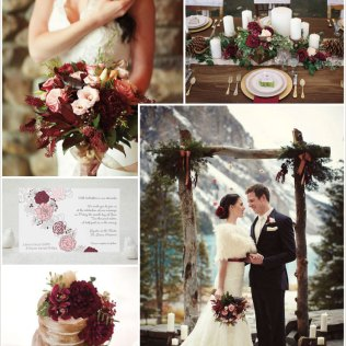 Color Monday Rustic Burgundy Wedding Ideas