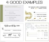 Rsvp Card Insight Etiquette Every Last Detail Wedding Rsvp Card
