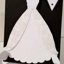 Wedding Invitation, Tuxedo And Gown Invitation, Bridal Shower