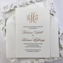 Formal Monogram Wedding Invitation Mblrf