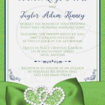 Green Wedding Invitations Unique Green Wedding Invitations Elegant