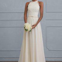 Halter Wedding Dress Plunging Halter Bridal Gown 245 – Life Weddings