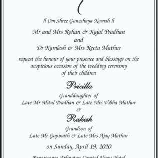 Hindu Wedding Card Invitation Indian Wedding Card Invitation