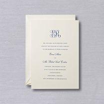 Letterpress Royalty Wedding Invitation With Monogram