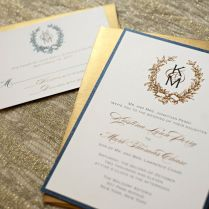 Monogram Wedding Invitations Monogram Wedding Invitations With An