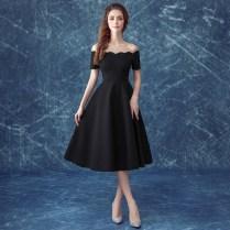 New Design Little Black Dress Senior Formal Graduation Dress