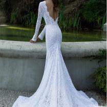 2017 Sexy Backless Wedding Dresses Online Gorgeous Wedding Gowns